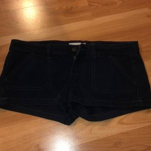Dark Navy Washed Jean Shorts from Hollister